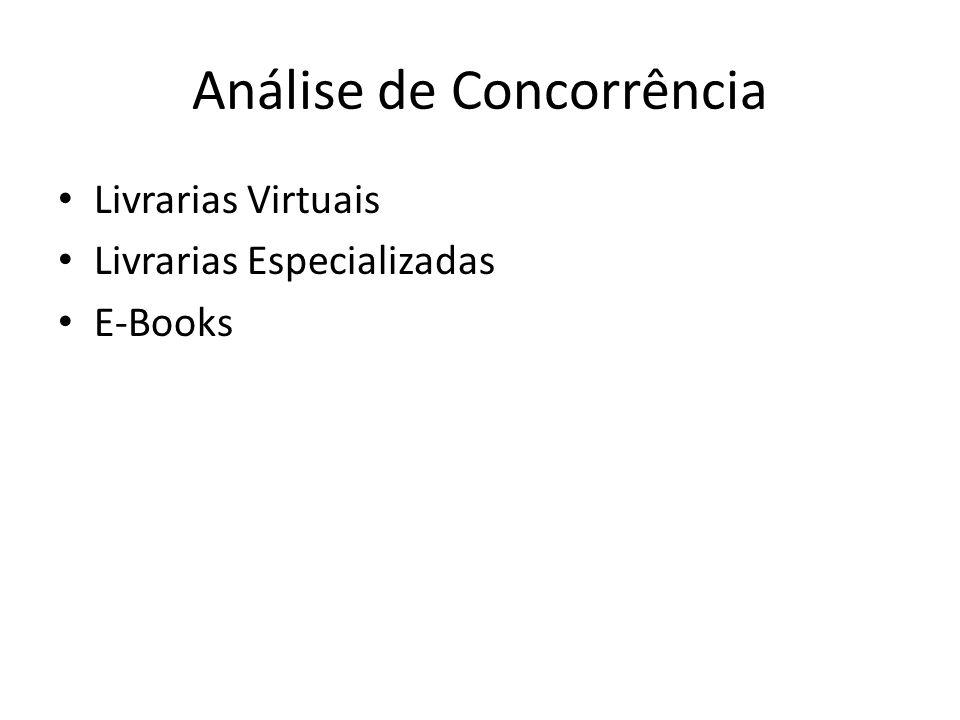 Análise de Concorrência Livrarias Virtuais Livrarias Especializadas E-Books