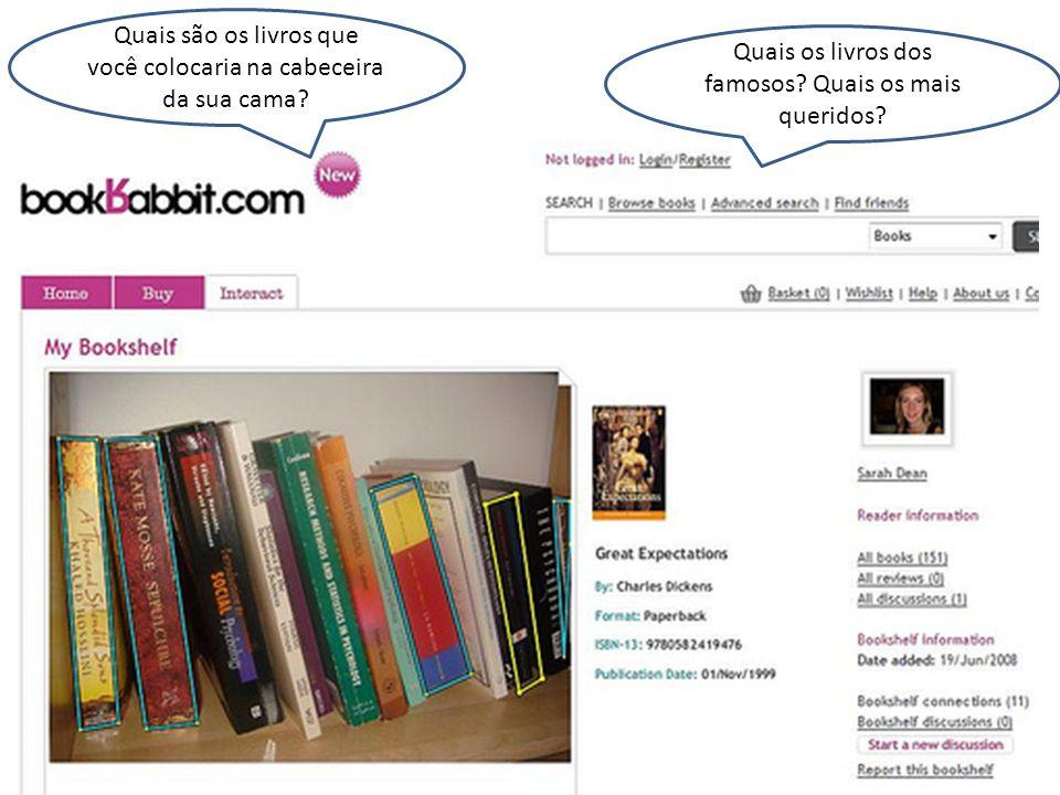 Quais são os livros que você colocaria na cabeceira da sua cama.