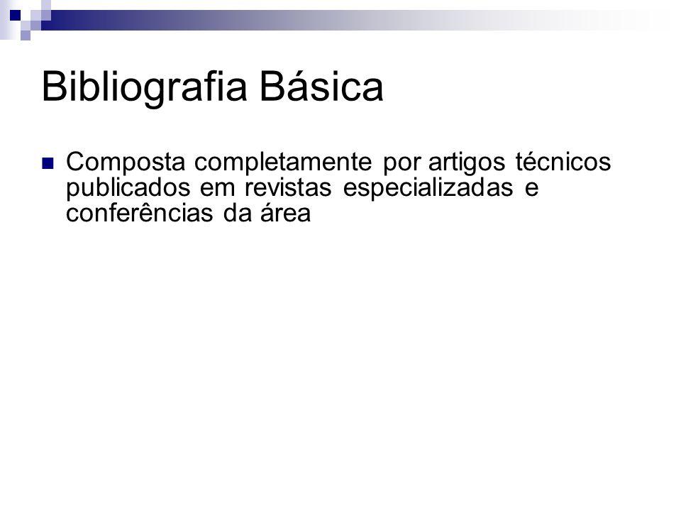 Bibliografia Básica Composta completamente por artigos técnicos publicados em revistas especializadas e conferências da área