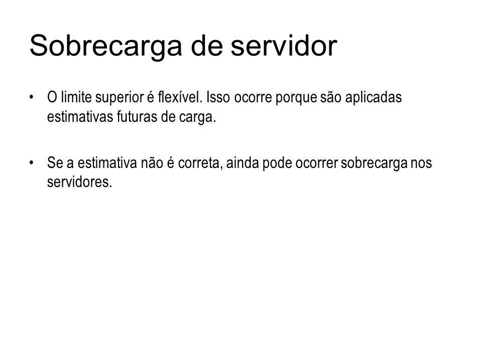 Sobrecarga de servidor O limite superior é flexível. Isso ocorre porque são aplicadas estimativas futuras de carga. Se a estimativa não é correta, ain