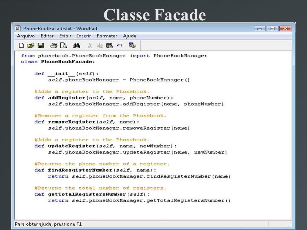 Classe Facade