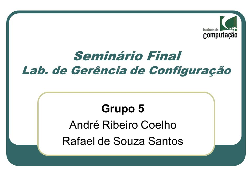 Seminário Final Lab.