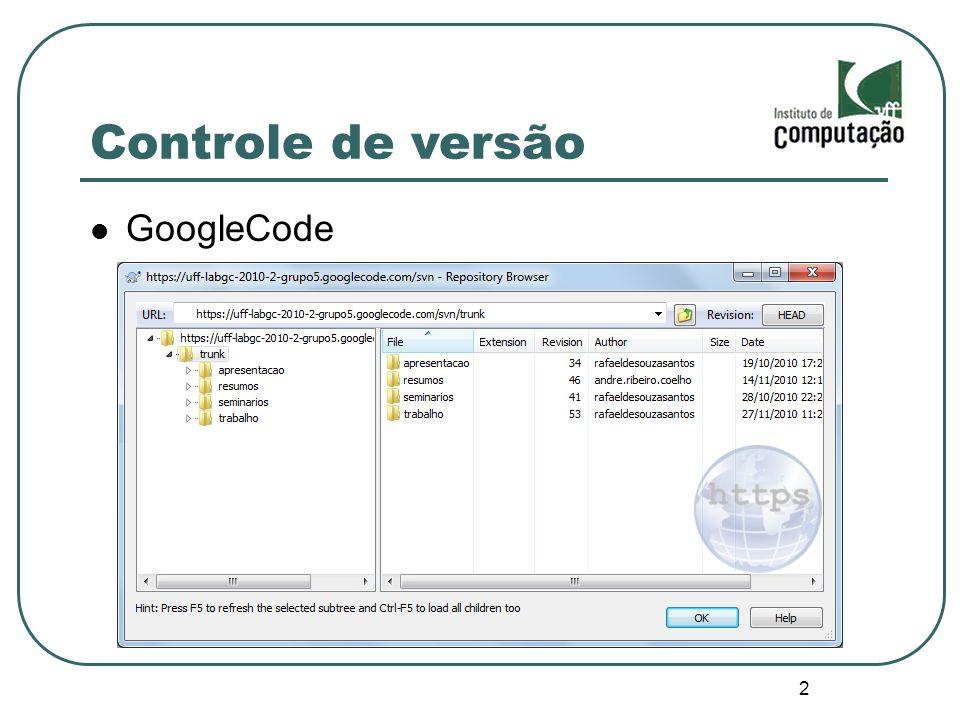 2 Controle de versão GoogleCode