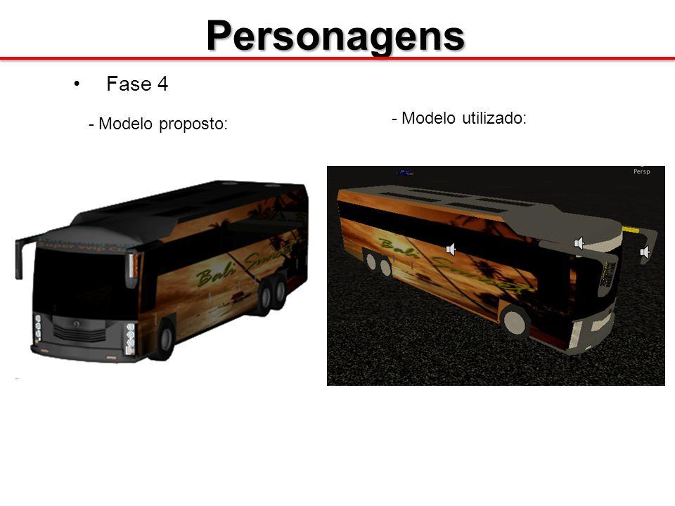 Personagens Fase 4 - Modelo proposto: - Modelo utilizado: