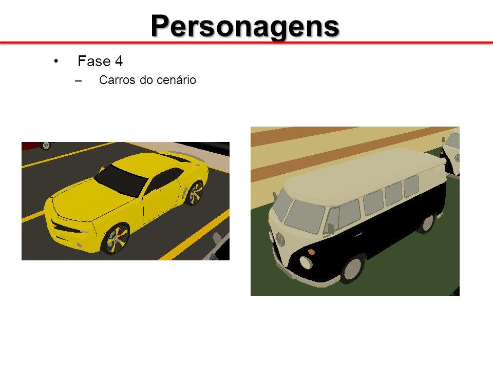 Personagens Fase 4 –Carros do cenário