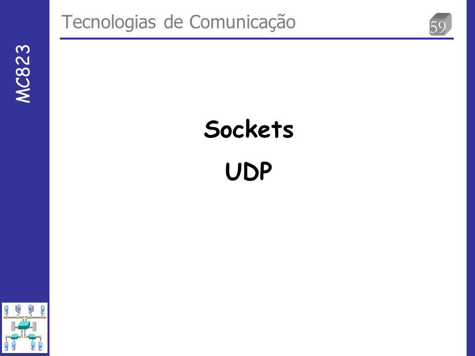 59 Tecnologias de Comunicação MC823 Sockets UDP