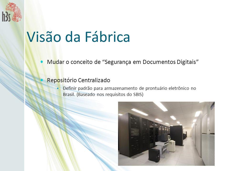 Visão da Fábrica Mudar o conceito de Segurança em Documentos Digitais Repositório Centralizado Definir padrão para armazenamento de prontuário eletrôn