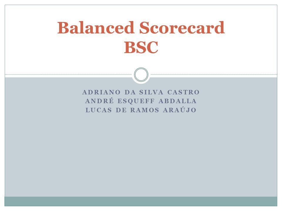 ADRIANO DA SILVA CASTRO ANDRÉ ESQUEFF ABDALLA LUCAS DE RAMOS ARAÚJO Balanced Scorecard BSC