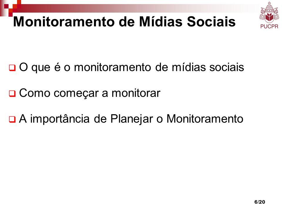 6/20 O que é o monitoramento de mídias sociais Como começar a monitorar A importância de Planejar o Monitoramento Monitoramento de Mídias Sociais