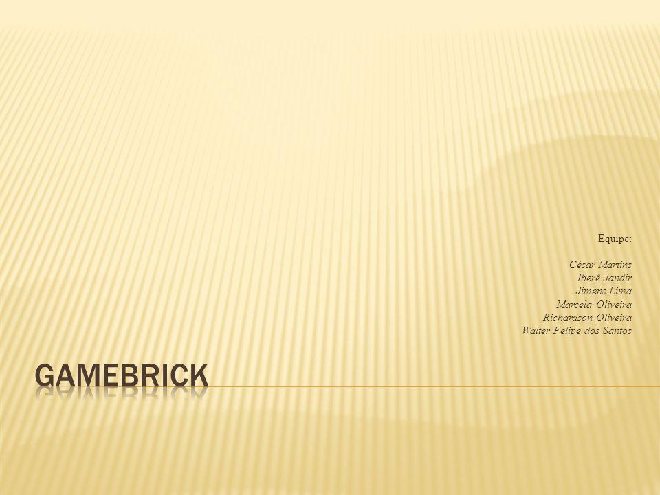 A Empresa:Quem Somos; O Problema; Papeis e Responsabilidades; O Produto; Organização do Projeto; O que a GameBrick espera do Cliente; O que o Cliente espera da GameBrick; Métricas;