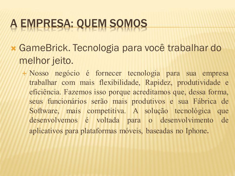 GameBrick. Tecnologia para você trabalhar do melhor jeito. Nosso negócio é fornecer tecnologia para sua empresa trabalhar com mais flexibilidade, Rapi