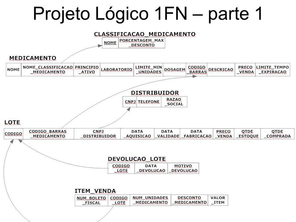 Projeto Lógico 1FN – parte 1