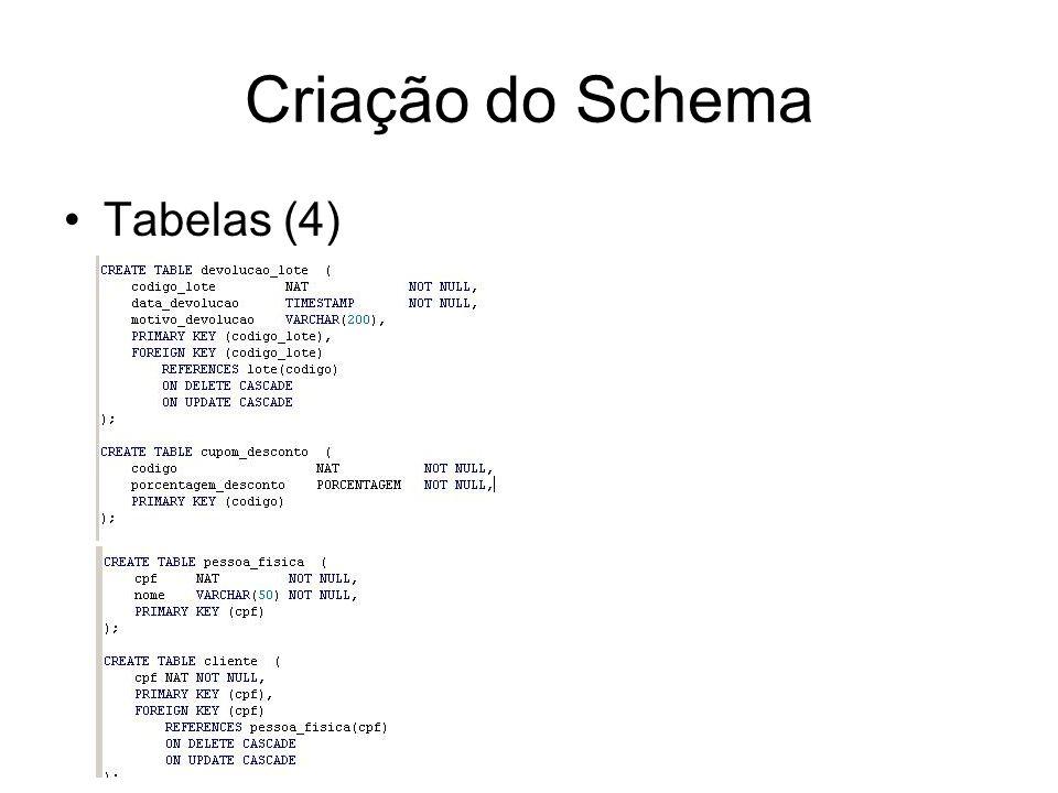 Criação do Schema Tabelas (4)