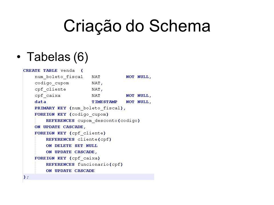 Criação do Schema Tabelas (6)