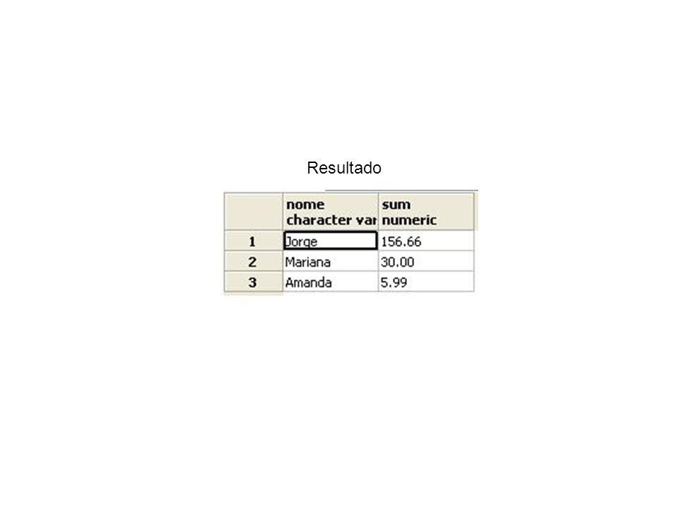 Consultas Consulta 5: Recupere os nomes dos medicamentos mais vendidos, ordenados pelo número de unidades vendidas SELECT nome, SUM(item_venda.num_unidades_medicamento) FROM ((item_venda JOIN lote ON codigo_lote=codigo) JOIN medicamento ON codigo_barras_medicamento=codigo_barras) GROUP BY medicamento.nome ORDER BY SUM(item_venda.num_unidades_medicamento) DESC;