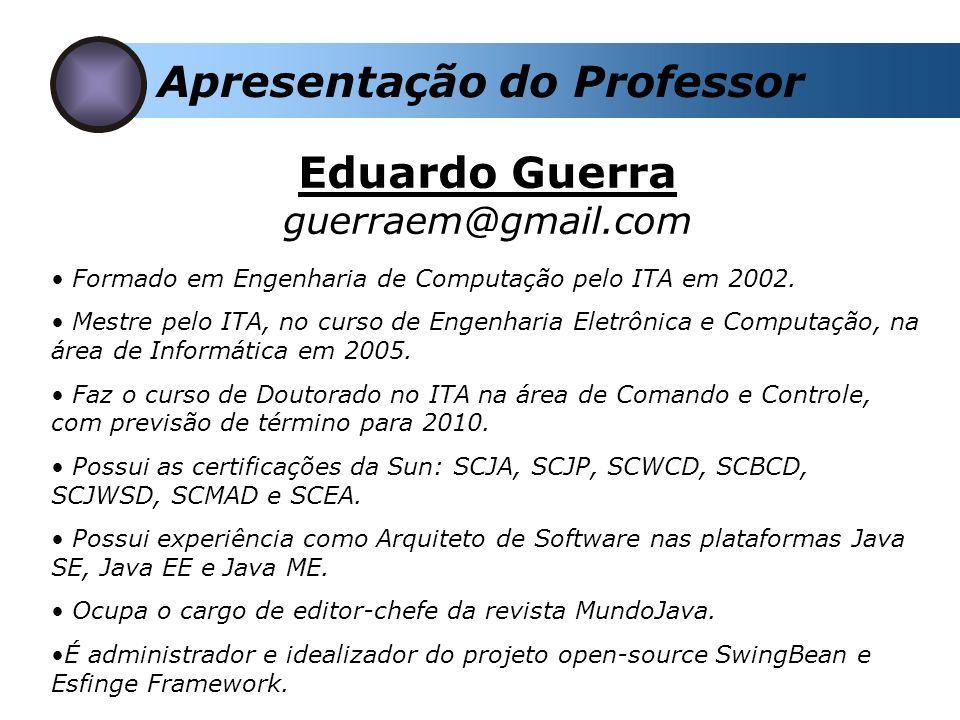 Formado em Engenharia de Computação pelo ITA em 2002. Mestre pelo ITA, no curso de Engenharia Eletrônica e Computação, na área de Informática em 2005.