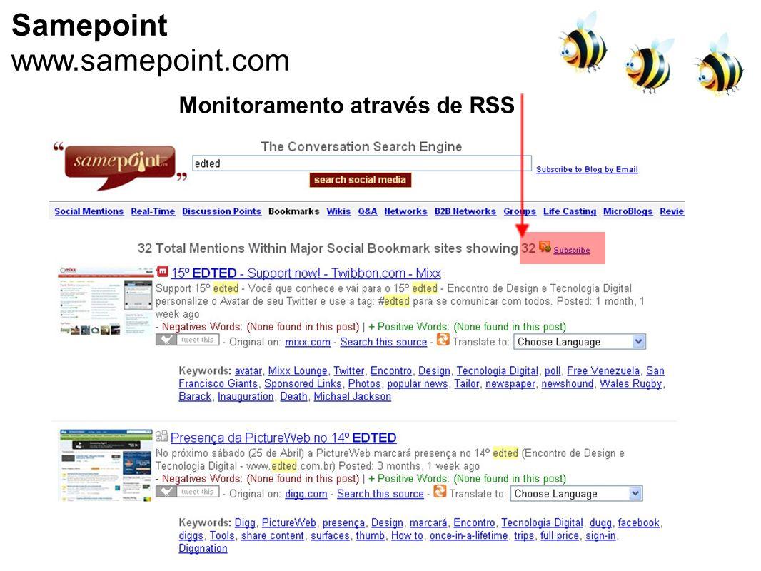 Samepoint www.samepoint.com Monitoramento através de RSS