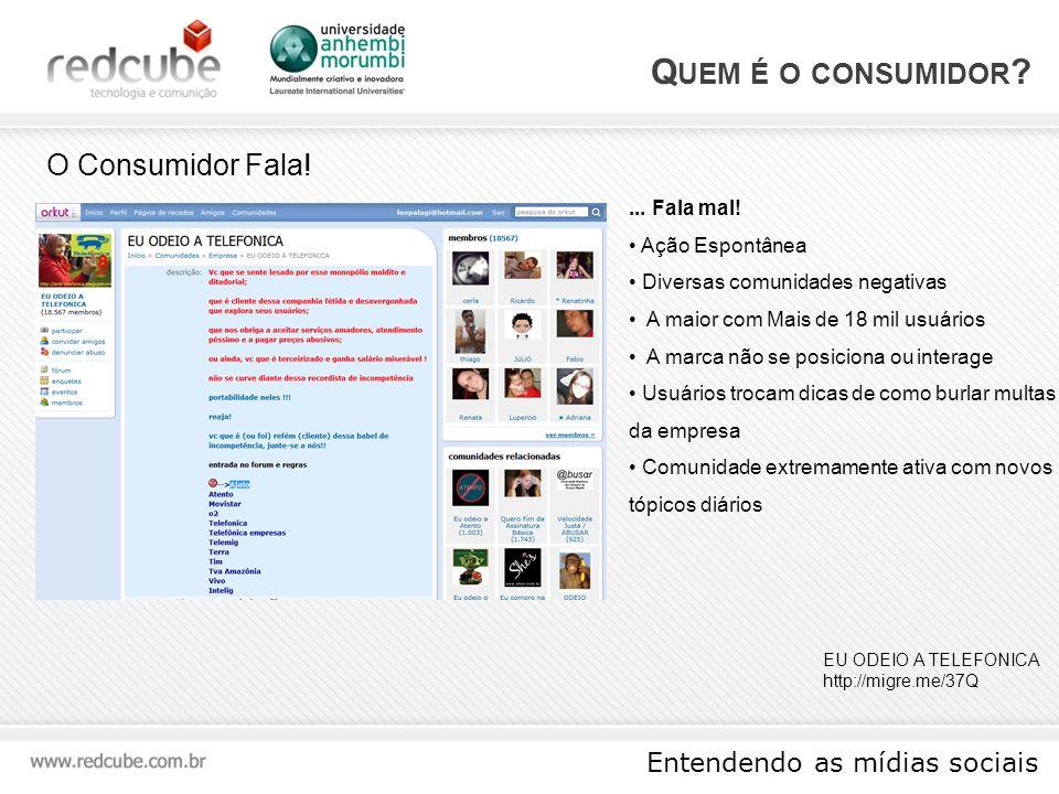 Entendendo as mídias sociais F ERRAMENTAS Comunidades Virtuais Uma comunidade na internet estabelece relações num espaço virtual através de meios de comunicação a distância.