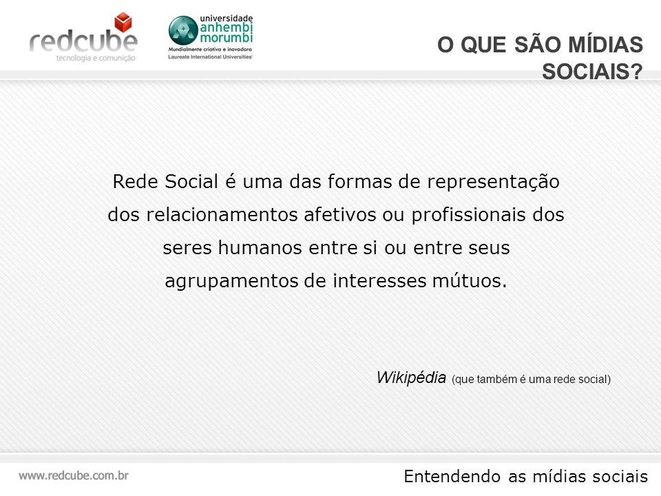 Entendendo as mídias sociais O QUE SÃO MÍDIAS SOCIAIS.