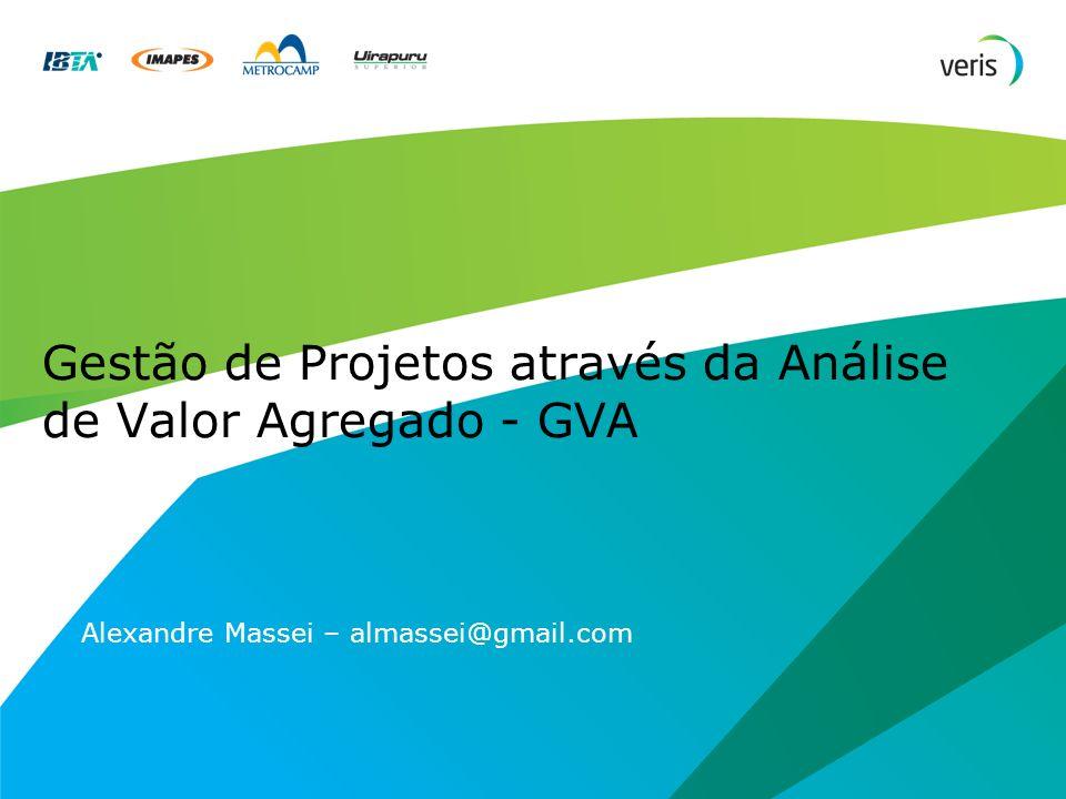 Gestão de Projetos através da Análise de Valor Agregado - GVA Alexandre Massei – almassei@gmail.com