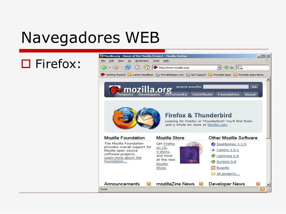 Navegadores WEB Firefox: