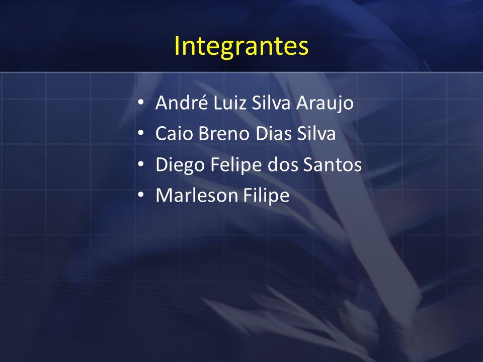 Integrantes André Luiz Silva Araujo Caio Breno Dias Silva Diego Felipe dos Santos Marleson Filipe