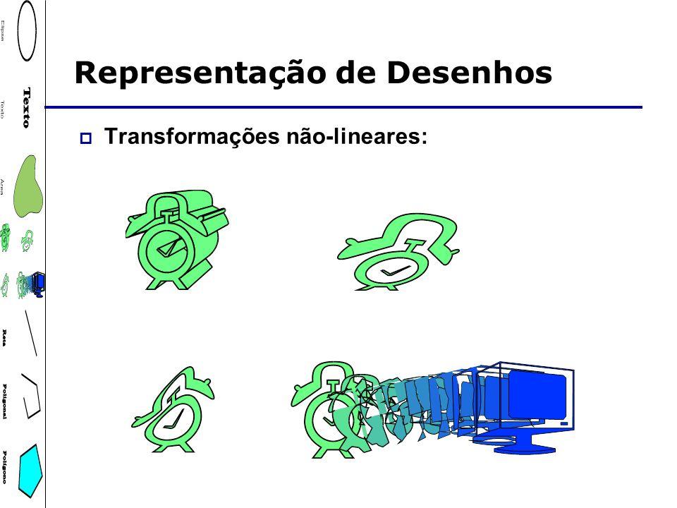 Representação de Desenhos Transformações não-lineares: