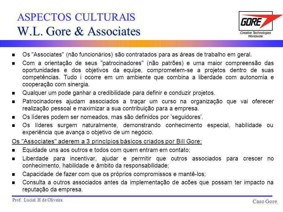 Prof. Luciel H de Oliveira Caso Gore n Os