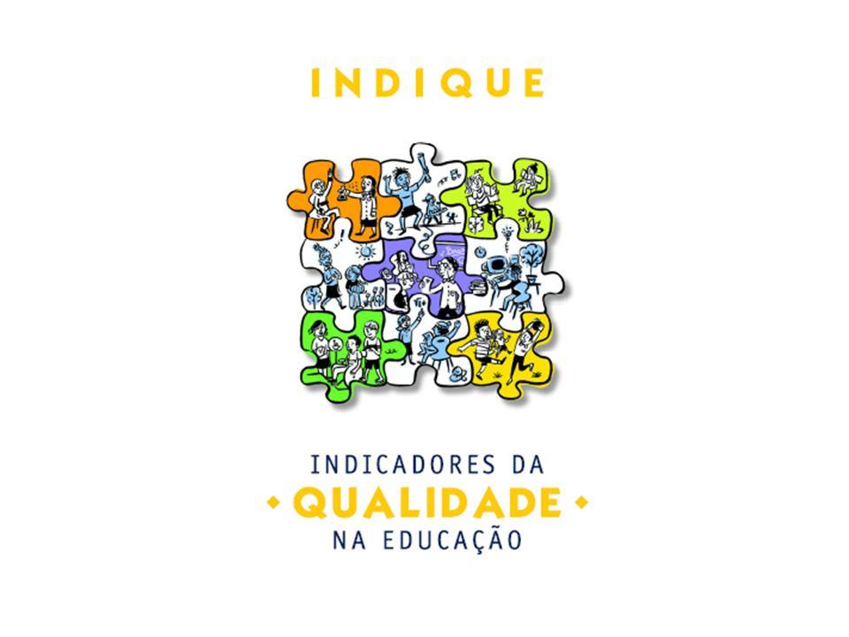 Os Indicadores O objetivo dos Indicadores da Qualidade na Educação – Indique é disseminar indicadores qualitativos de educação que mobilizem a comunidade escolar em torno de ações voltadas ao cumprimento do direito da educação de qualidade para todos.
