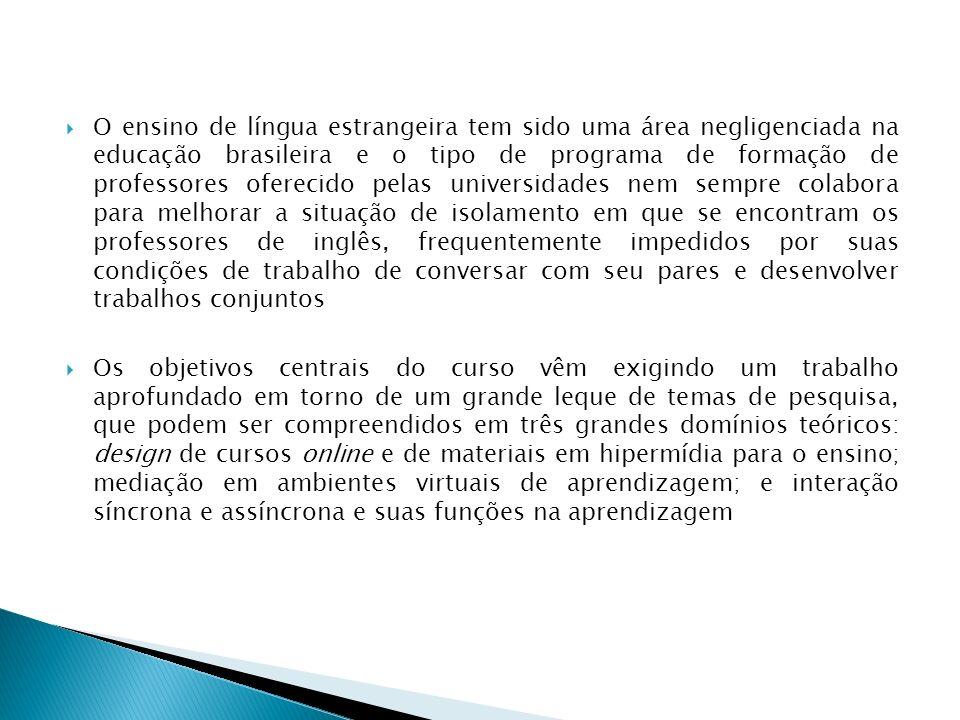 O ensino de língua estrangeira tem sido uma área negligenciada na educação brasileira e o tipo de programa de formação de professores oferecido pelas