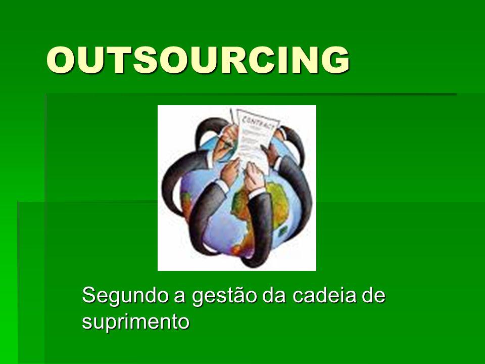 OUTSOURCING Segundo a gestão da cadeia de suprimento