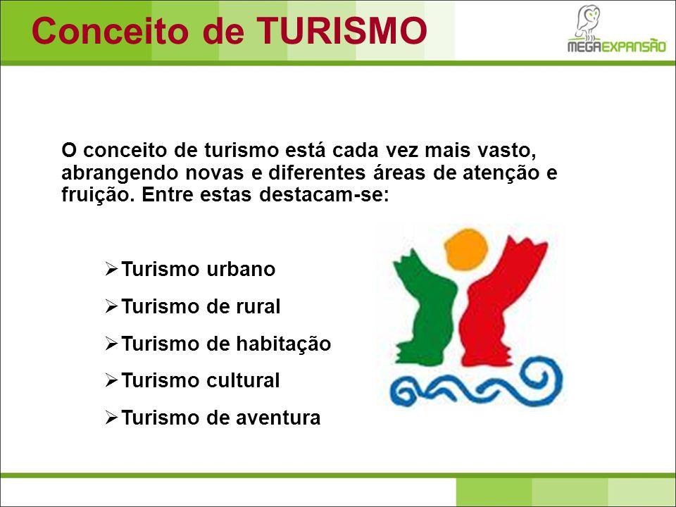O conceito de turismo está cada vez mais vasto, abrangendo novas e diferentes áreas de atenção e fruição. Entre estas destacam-se: Turismo urbano Turi