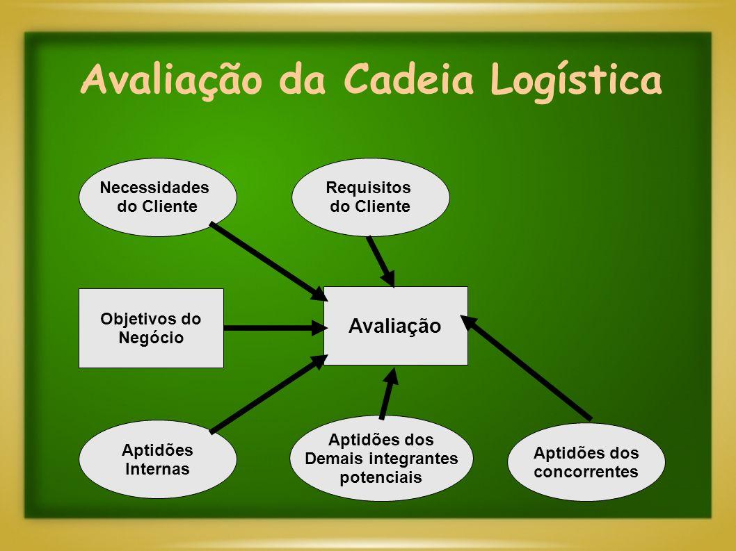Avaliação da Cadeia Logística Necessidades do Cliente Requisitos do Cliente Aptidões Internas Aptidões dos Demais integrantes potenciais Aptidões dos concorrentes Objetivos do Negócio Avaliação