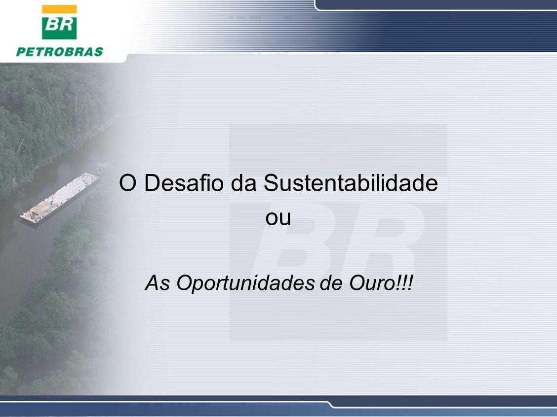 O Desafio da Sustentabilidade ou As Oportunidades de Ouro!!!