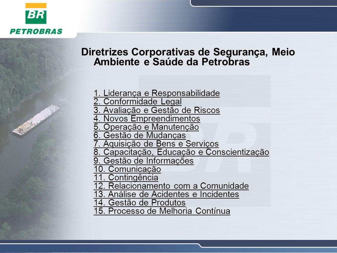 Diretrizes Corporativas de Segurança, Meio Ambiente e Saúde da Petrobras 1.