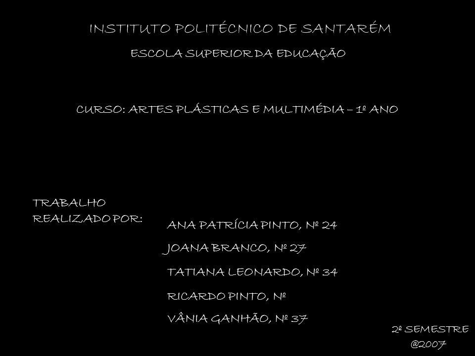 INSTITUTO POLITÉCNICO DE SANTARÉM ESCOLA SUPERIOR DA EDUCAÇÃO TRABALHO REALIZADO POR: ANA PATRÍCIA PINTO, Nº 24 JOANA BRANCO, Nº 27 TATIANA LEONARDO,