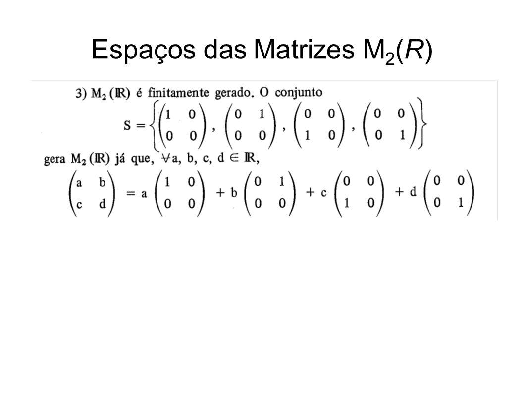 Espaços das Matrizes M 2 (R)