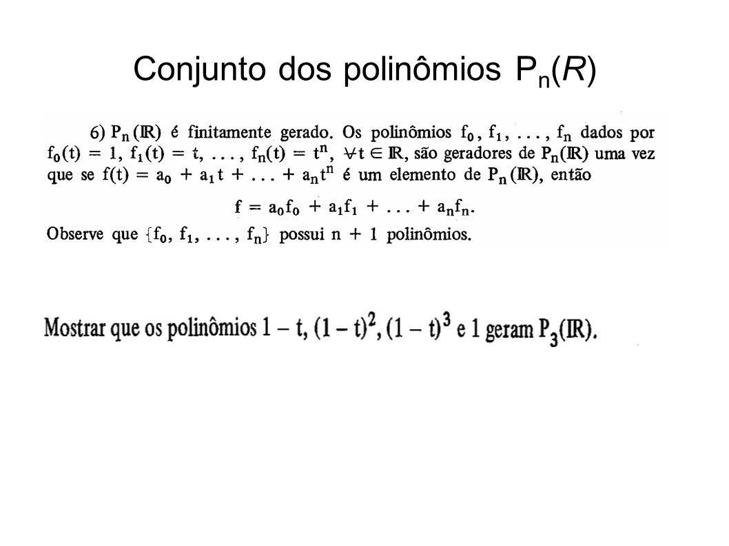 Conjunto dos polinômios P n (R)