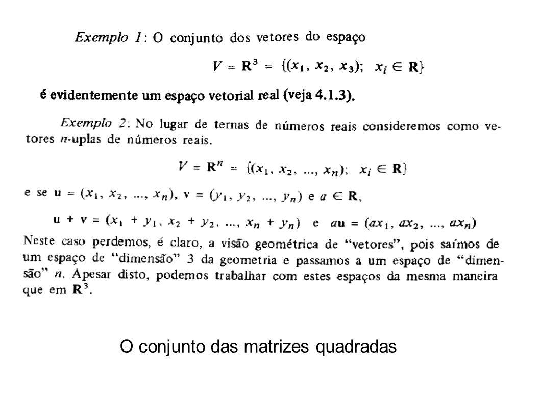 O conjunto das matrizes quadradas