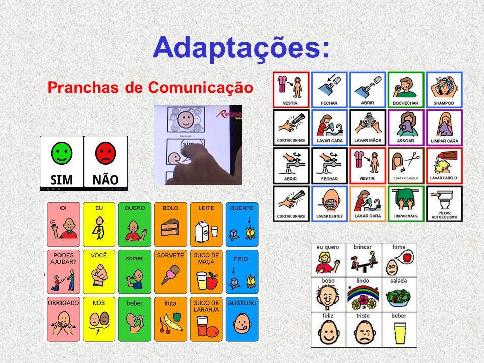 Adaptações: Pranchas de Comunicação