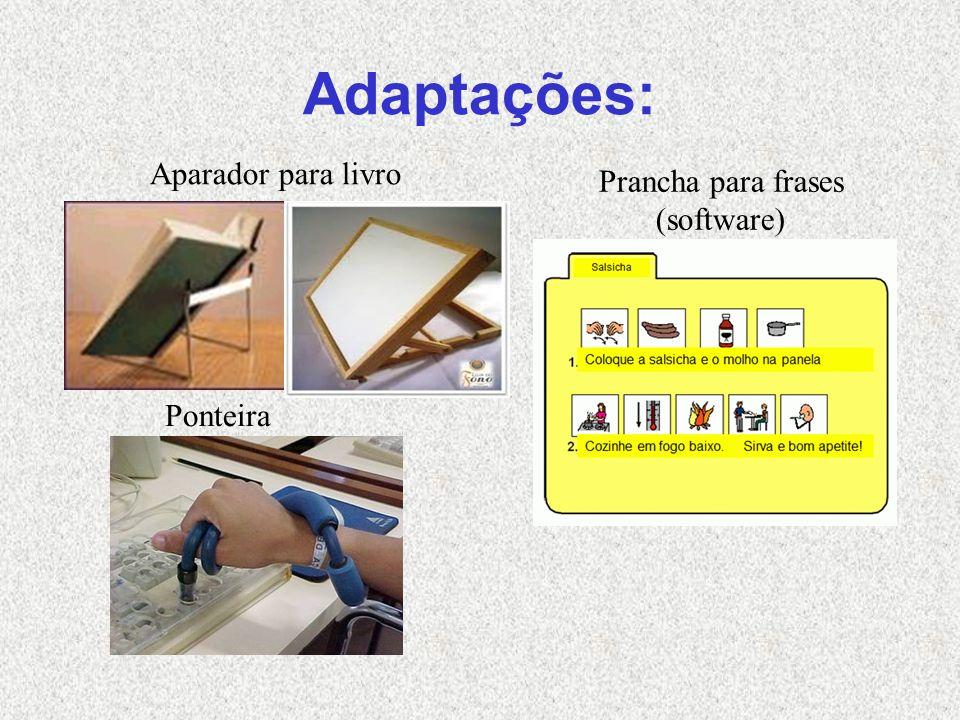 Adaptações: Aparador para livro Ponteira Prancha para frases (software)