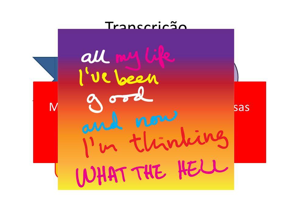Transcrição Texto oral Texto escrito O quê? Para quê? Mas... por que eu devo me fazer essas perguntas? 8-( _ What the hell????_ :P