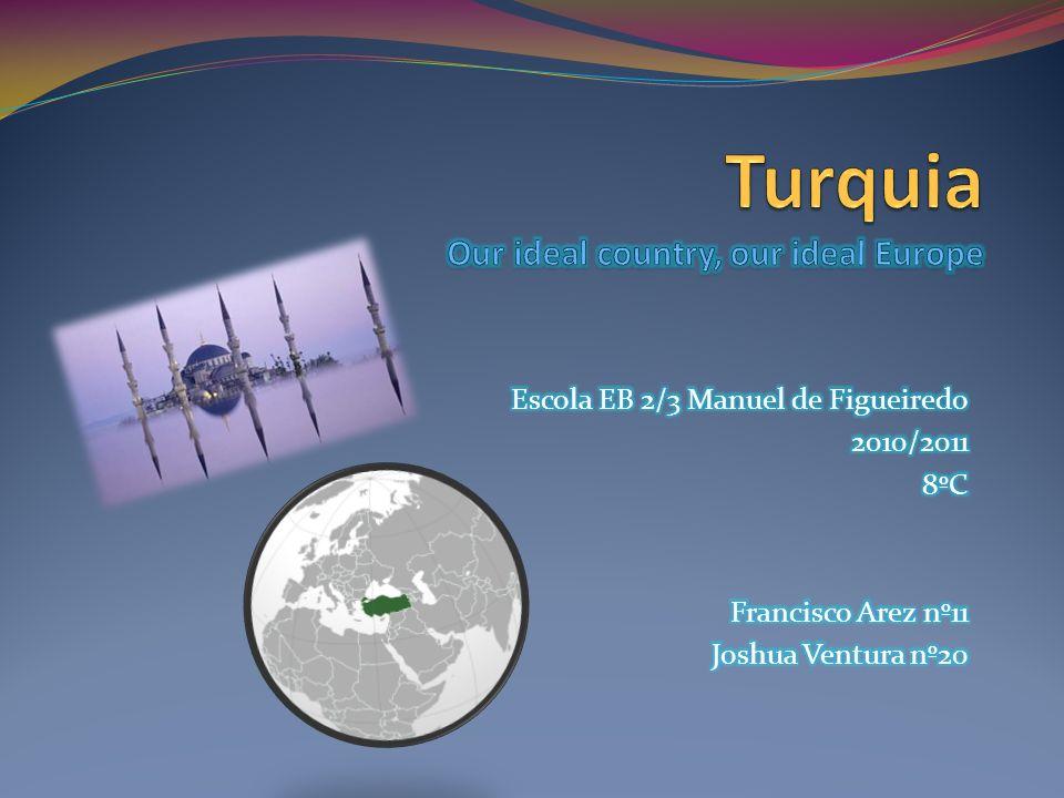 Turquia A Turquia encontra-se situada na Eurásia, tem uma pequena parte Europeia e uma grande parte Asiática.
