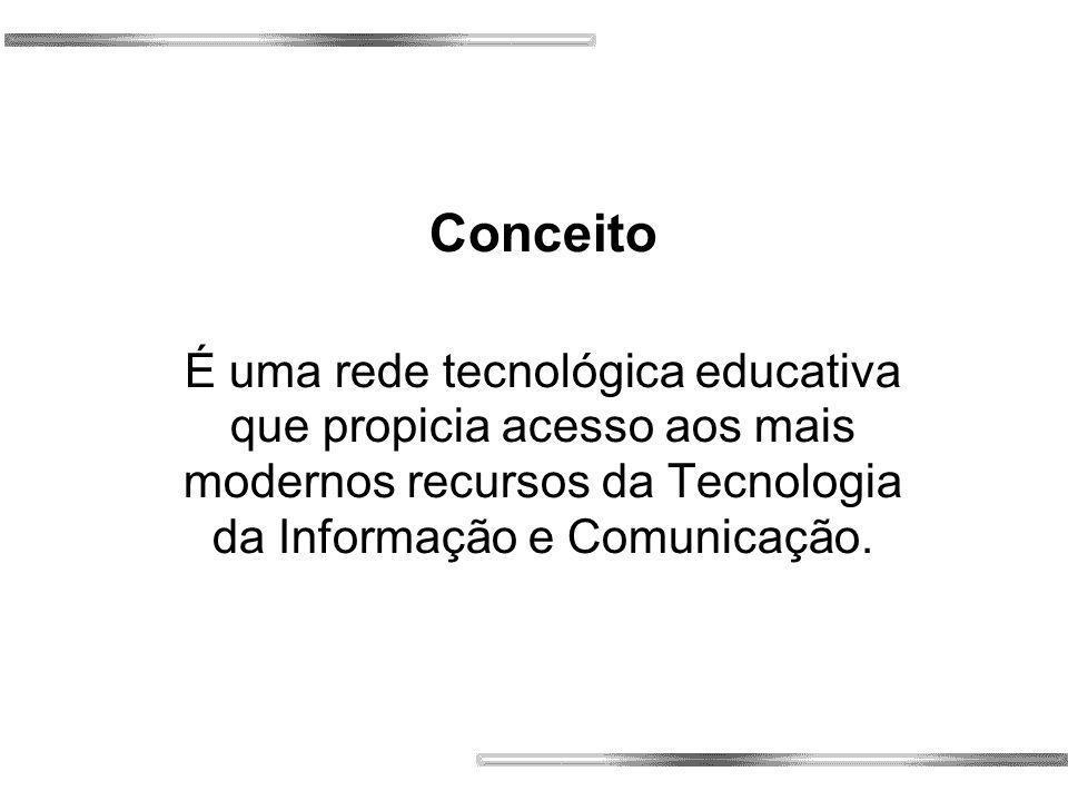 Conceito É uma rede tecnológica educativa que propicia acesso aos mais modernos recursos da Tecnologia da Informação e Comunicação.