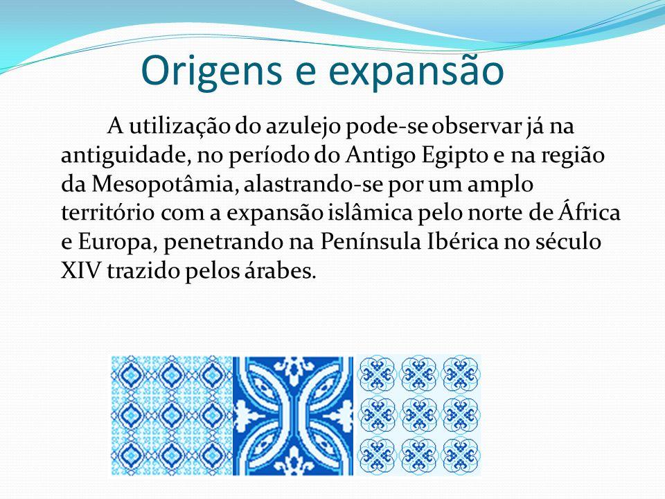 Origens e expansão A utilização do azulejo pode-se observar já na antiguidade, no período do Antigo Egipto e na região da Mesopotâmia, alastrando-se p