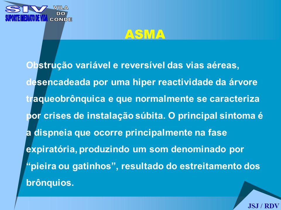 ASMA Obstrução variável e reversível das vias aéreas, desencadeada por uma hiper reactividade da árvore traqueobrônquica e que normalmente se caracter
