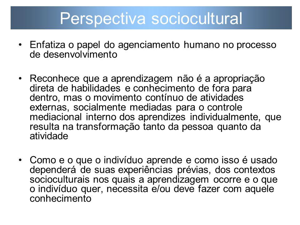 O que a perspectiva sociocultural tem a oferecer para a educação de professores de línguas.