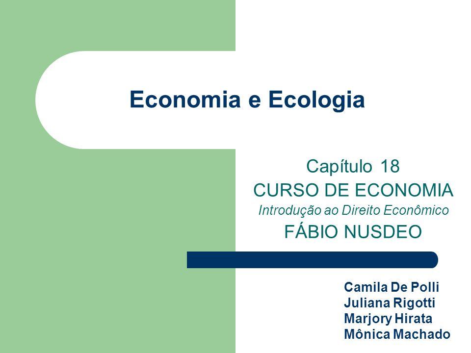 Economia e Ecologia Capítulo 18 CURSO DE ECONOMIA Introdução ao Direito Econômico FÁBIO NUSDEO Camila De Polli Juliana Rigotti Marjory Hirata Mônica M