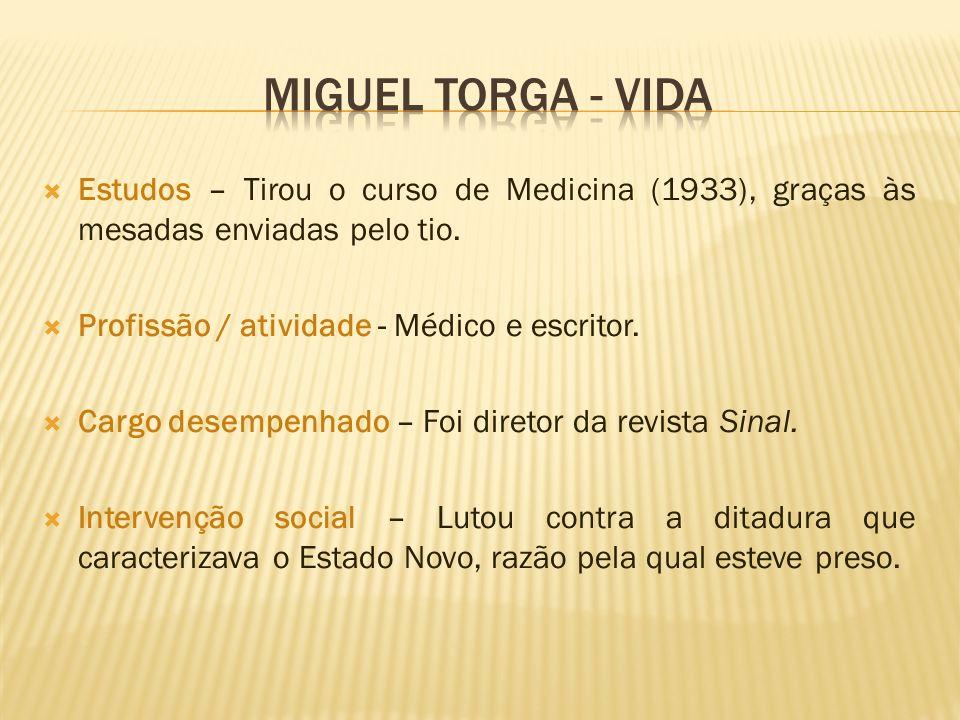 Estudos – Tirou o curso de Medicina (1933), graças às mesadas enviadas pelo tio. Profissão / atividade - Médico e escritor. Cargo desempenhado – Foi d