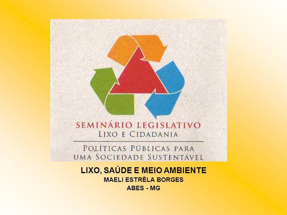 CLASSIFICAÇÃO DO LIXO OU RESÍDUO SÓLIDO MEB/2005